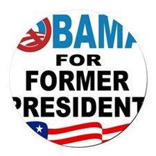 anyone but obama.png Round Car Magnet