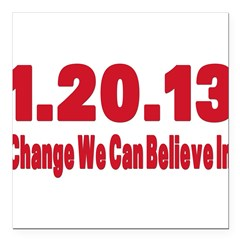 change oval sticker.png Square Car Magnet 3