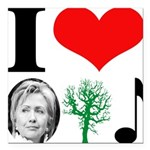 hillary bumper sticker(blue).png Square Car Magnet