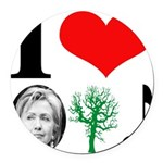 hillary bumper sticker(blue).png Round Car Magnet