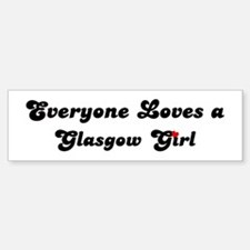 Loves Glasgow Girl Bumper Car Car Sticker