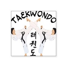 """old tae kwon do(pink).png Square Sticker 3"""" x 3"""""""