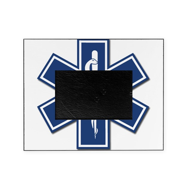 EMS EMT Rescue Logo Picture Frame by bonfiredesigns