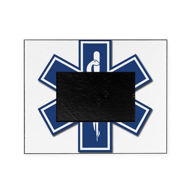 EMS EMT Rescue Logo Picture Frame by bonfiredesigns