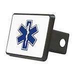 EMS EMT Rescue Logo Rectangular Hitch Cover