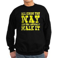 Zen Buddhism Western Style Yellow Sweatshirt