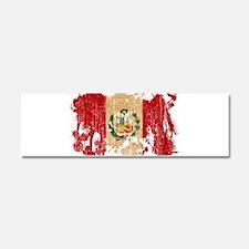 Peru Flag Car Magnet 10 x 3