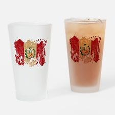 Peru Flag Drinking Glass