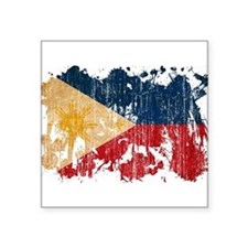 "Philippines Flag Square Sticker 3"" x 3"""