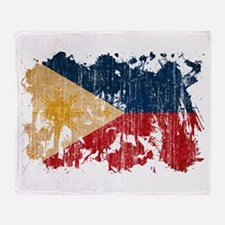 Philippines Flag Throw Blanket