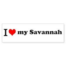 I (heart) Savannah Bumper Bumper Sticker
