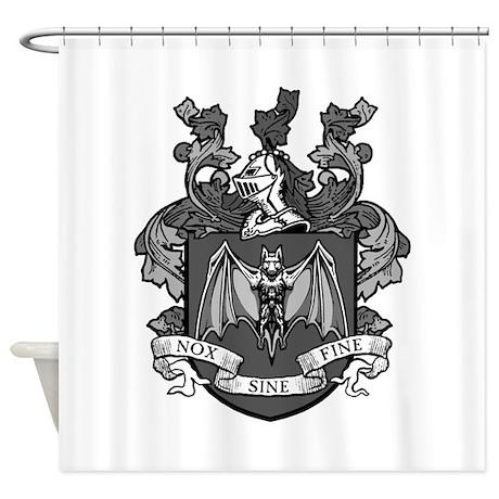 Gothic Bat Crest Shower Curtain By Gothicbc