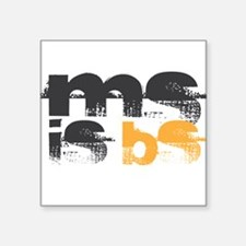 "MS is BS (White) Square Sticker 3"" x 3"""