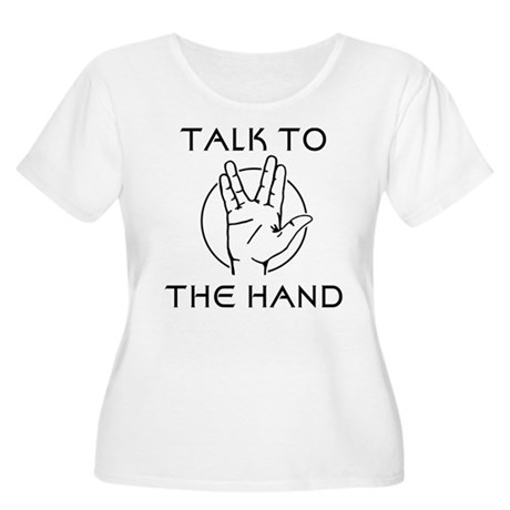 Talk to the Spock Hand Women's Plus Size Scoop Nec