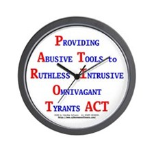 Patriot Act Wall Clock