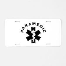 Paramedic Star Of Life Aluminum License Plate