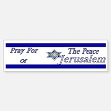 Pray for Jerusalem (Bumper)