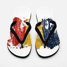 Romania Flag Flip Flops