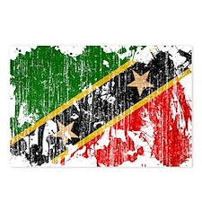 Saint Kitts Nevis Flag Postcards (Package of 8)