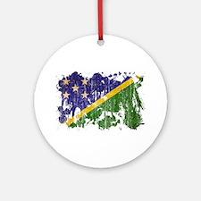 Solomon Islands Flag Ornament (Round)