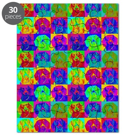 Op Art Doxie Puzzle