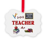 Teachers Do It With Class Picture Ornament