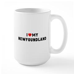 LUV my newf Large Mug