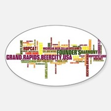 Grand Rapids Beer City USA - color print Decal