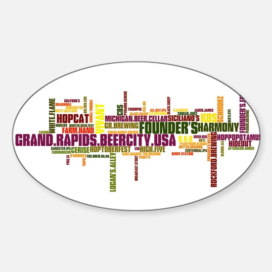 Grand Rapids Beer City USA - color print Decal