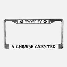 Owned by a Chinese Crested License Plate Frame
