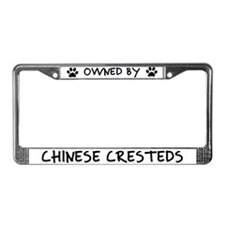 Owned by Chinese Cresteds License Plate Frame
