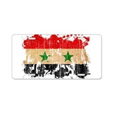 Syria Flag Aluminum License Plate