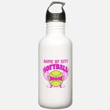 Personalize Softball Mom Water Bottle