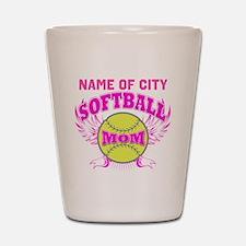 Personalize Softball Mom Shot Glass