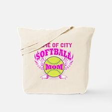 Personalize Softball Mom Tote Bag