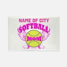 Personalize Softball Mom Rectangle Magnet