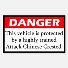 Danger Chinese Crested Decal