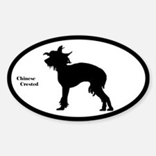 Chinese Crested Silhouette Decal