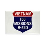 100 Missions Rectangle Magnet (10 pack)