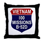 100 Missions Throw Pillow
