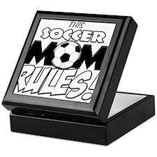 This Soccer Mom Rules.png Keepsake Box