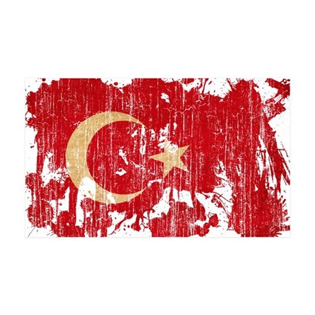 Turkey Flag 38.5 x 24.5 Wall Peel