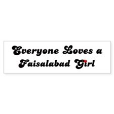 Loves Faisalabad Girl Bumper Bumper Sticker