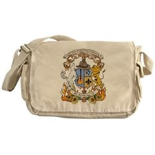 Kaniac Crest English Motto Messenger Bag