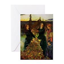 Autumn Leaves, Millais Greeting Card