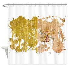 Vatican City Flag Shower Curtain