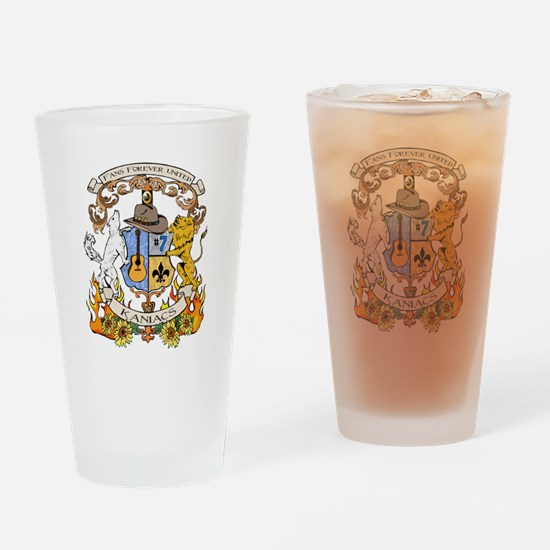 Kaniac Crest English Motto Drinking Glass