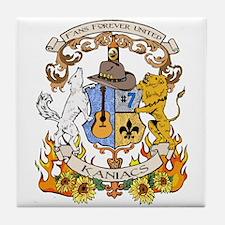 Kaniac Crest English Motto Tile Coaster