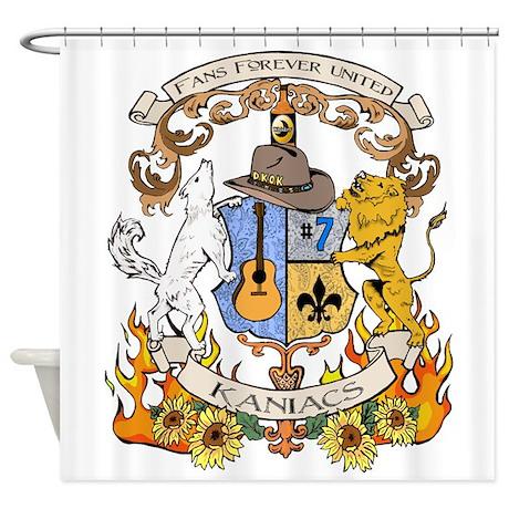 Kaniac Crest English Motto Shower Curtain By Drpandasgreetings