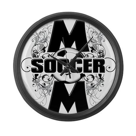 Soccer Mom (cross).png Large Wall Clock